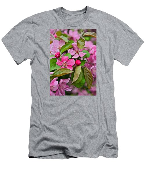 2015 Spring At The Gardens Pink Crabapple Blossoms 2 Men's T-Shirt (Athletic Fit)