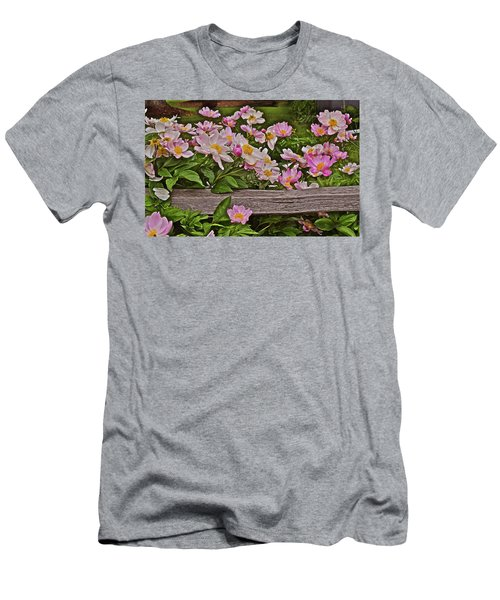 2015 Summer's Eve Front Yard Peonies 1 Men's T-Shirt (Athletic Fit)