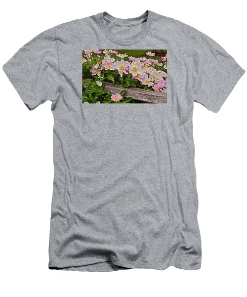 2015 Summer's Eve Neighborhood Garden Front Yard Peonies 3 Men's T-Shirt (Athletic Fit)