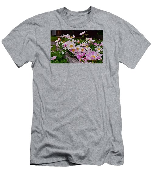 2015 Summer's Eve Neighborhood Garden Front Yard Peonies 4 Men's T-Shirt (Athletic Fit)