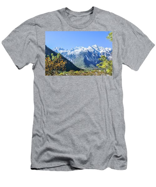 Men's T-Shirt (Athletic Fit) featuring the photograph The Plateau Scenery by Carl Ning