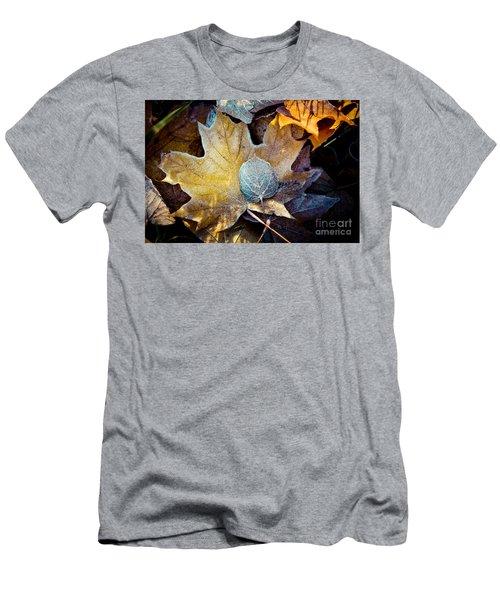 Autumn Leaves Frozen Artmif.lv Men's T-Shirt (Athletic Fit)