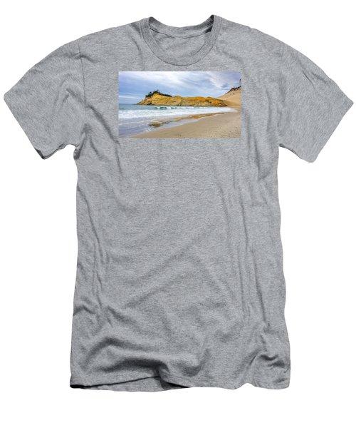 Cape Kiwanda Men's T-Shirt (Slim Fit) by Jerry Cahill