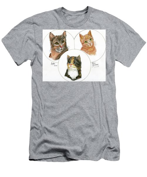 3 Cats For Juda Men's T-Shirt (Slim Fit) by Bill Hubbard