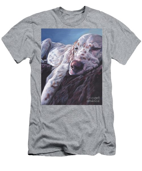 Men's T-Shirt (Slim Fit) featuring the painting English Setter by Lee Ann Shepard
