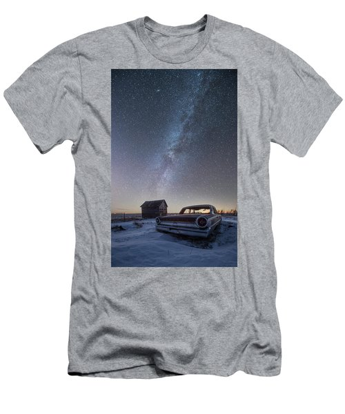 Men's T-Shirt (Slim Fit) featuring the photograph 3 Galaxies  by Aaron J Groen