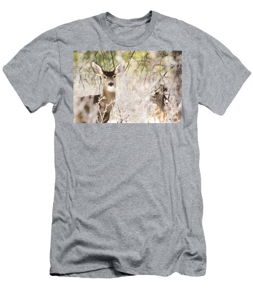 Herd Of Mule Deer In Deep Snow Men's T-Shirt (Athletic Fit)
