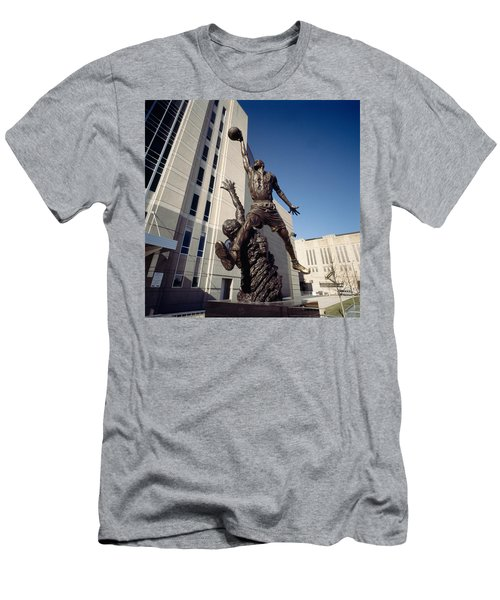 Low Angle View Of A Statue In Front Men's T-Shirt (Slim Fit) by Panoramic Images