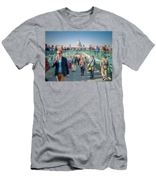 Men's T-Shirt (Athletic Fit) featuring the photograph Millennium Bridge by Stewart Marsden