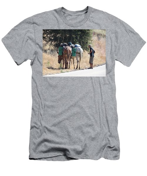 3 Mules Men's T-Shirt (Athletic Fit)