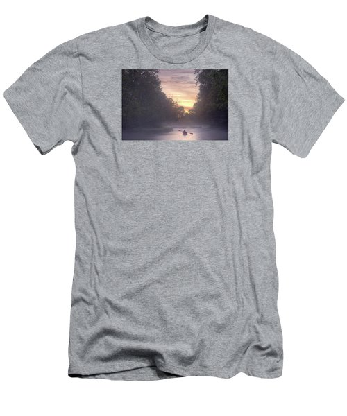 Paddling In Mist Men's T-Shirt (Athletic Fit)