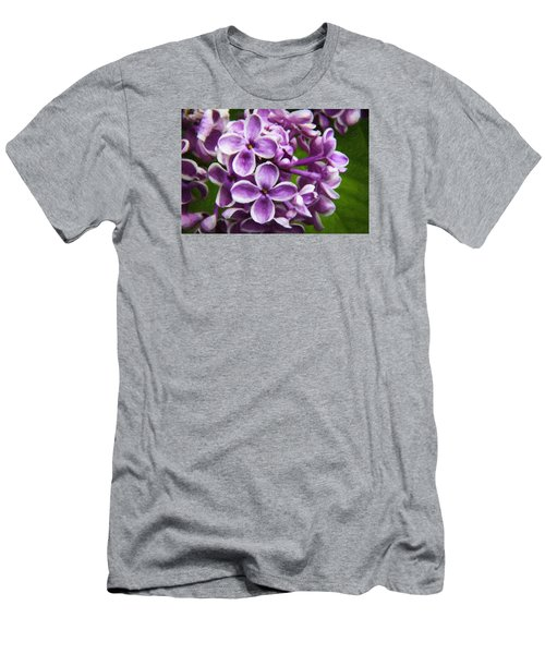 Pink Flowers Men's T-Shirt (Slim Fit) by Andre Faubert