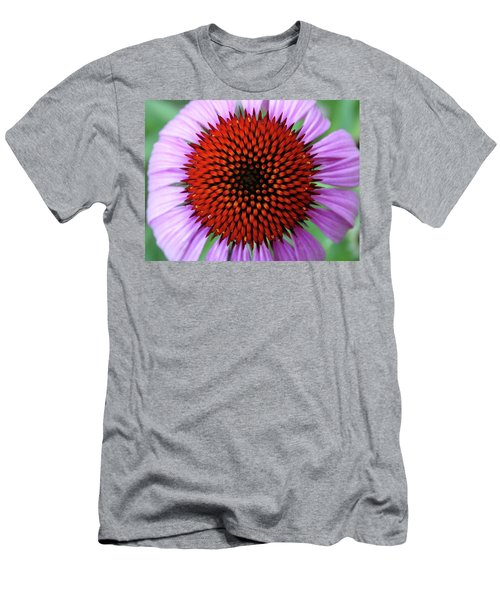 Purple Coneflower  Men's T-Shirt (Slim Fit) by Rebecca Overton