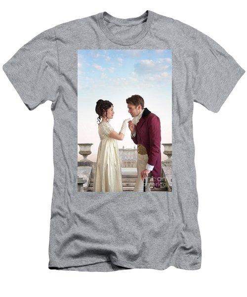Regency Couple  Men's T-Shirt (Slim Fit) by Lee Avison