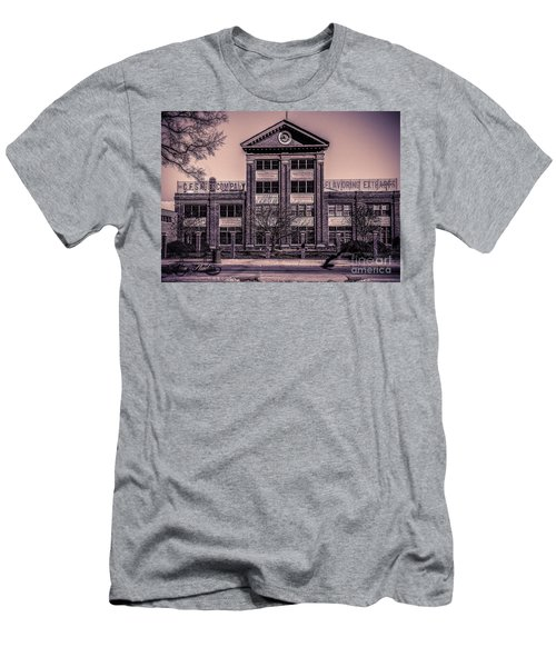 Men's T-Shirt (Slim Fit) featuring the photograph Sauer Building by Melissa Messick