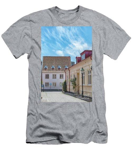 Men's T-Shirt (Slim Fit) featuring the photograph Ystad Street Scene by Antony McAulay