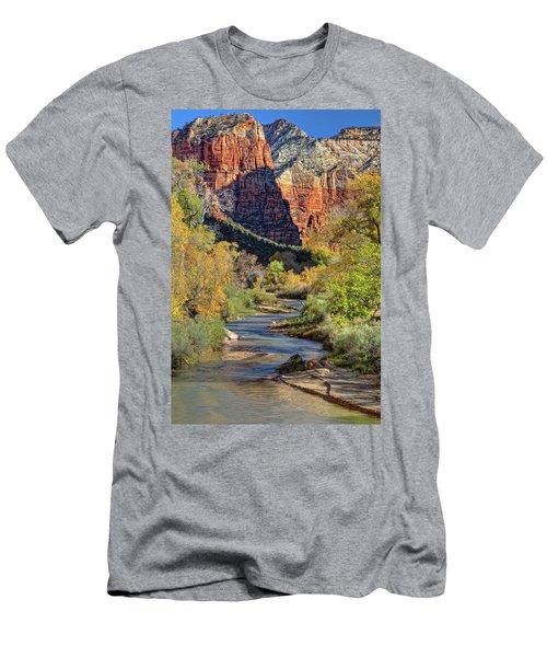 Zion National Park Utah Men's T-Shirt (Athletic Fit)