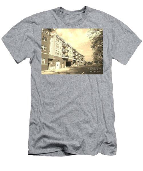 3rd Street Columbus Indiana - Sepia Men's T-Shirt (Slim Fit) by Scott D Van Osdol