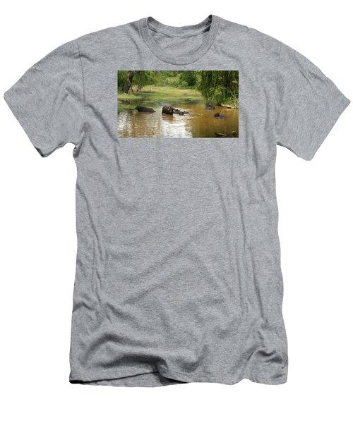 Buffalos Men's T-Shirt (Slim Fit) by Christian Zesewitz