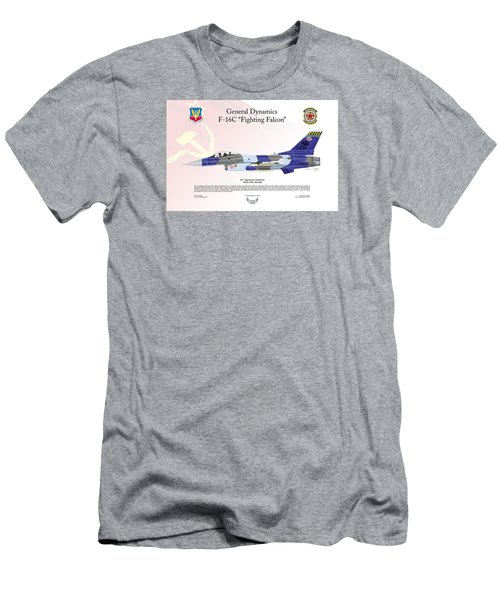 Men's T-Shirt (Slim Fit) featuring the digital art General Dynamics F-16 Fighting Falcon Aggressors by Arthur Eggers
