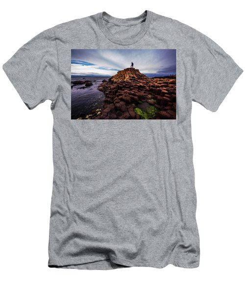 Man Atop Giant's Causeway Men's T-Shirt (Athletic Fit)