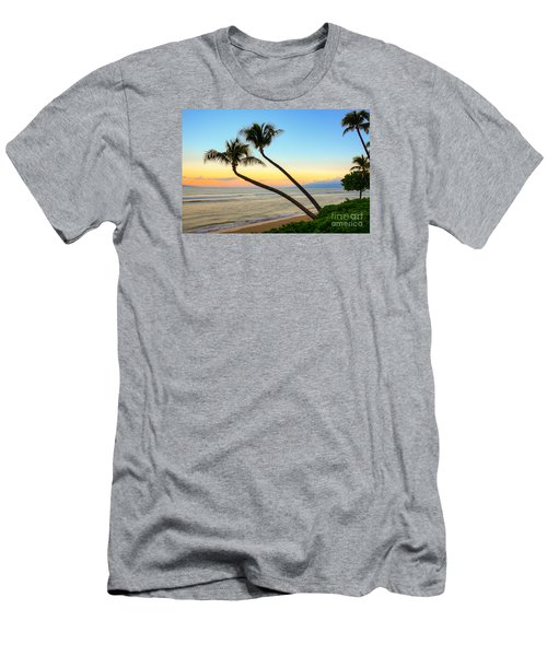 Island Sunrise Men's T-Shirt (Slim Fit) by Kelly Wade