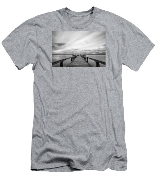 Melbourne Beach Pier Sunset Men's T-Shirt (Athletic Fit)