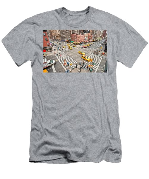 New York City Men's T-Shirt (Slim Fit) by Luciano Mortula