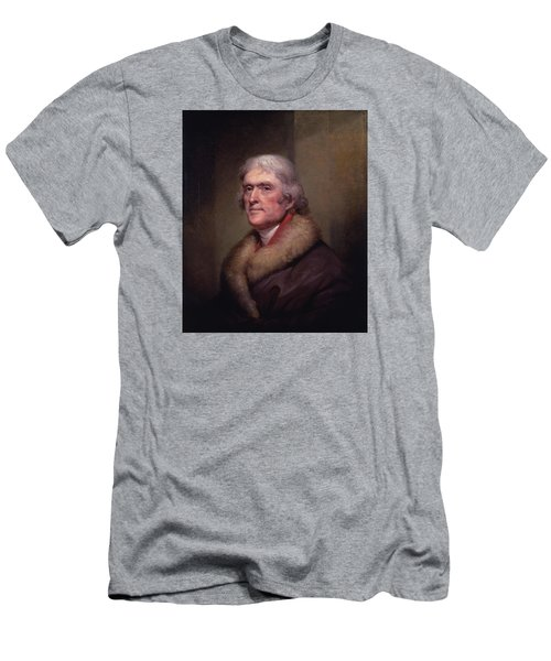 President Thomas Jefferson Men's T-Shirt (Slim Fit) by War Is Hell Store