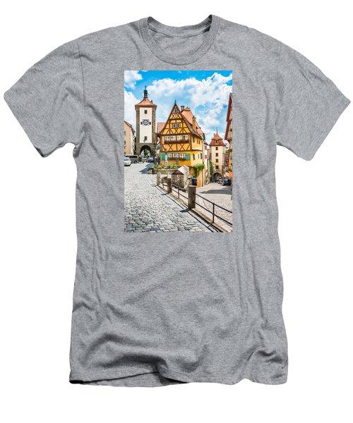 Rothenburg Ob Der Tauber Men's T-Shirt (Slim Fit) by JR Photography