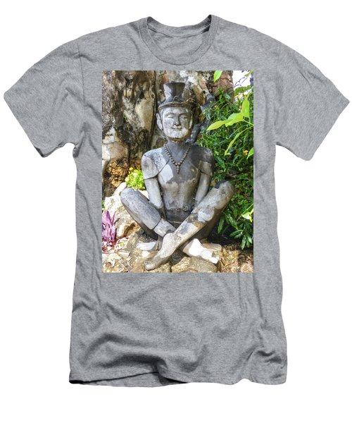 Statue Depicting A Thai Yoga Pose At Wat Pho Temple Men's T-Shirt (Athletic Fit)