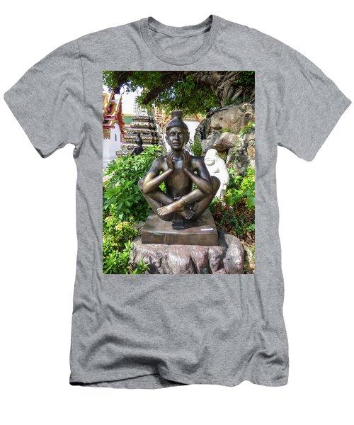 Thai Yoga Statue At Famous Wat Pho Temple Men's T-Shirt (Athletic Fit)