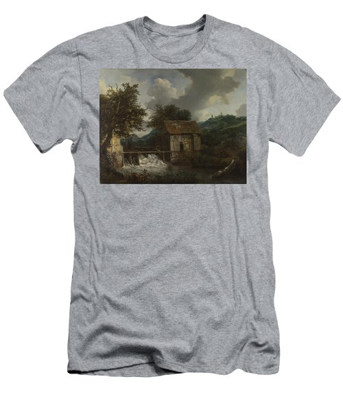 Two Watermills And An Open Sluice At Singraven Men's T-Shirt (Athletic Fit)