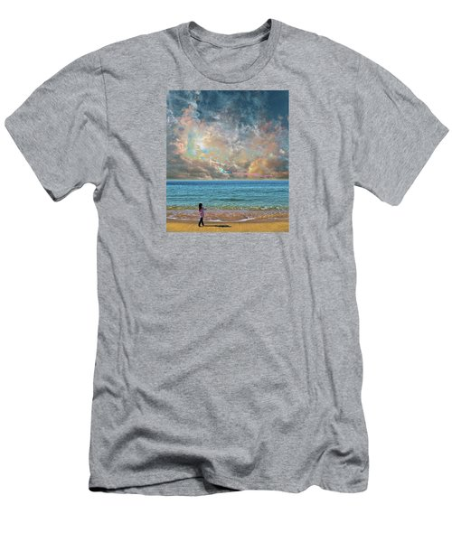 Men's T-Shirt (Slim Fit) featuring the photograph 4410 by Peter Holme III