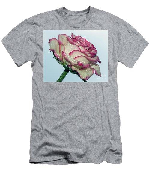 Beautiful Rose Men's T-Shirt (Slim Fit) by Elvira Ladocki