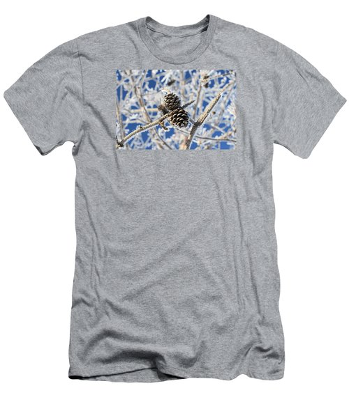 Men's T-Shirt (Slim Fit) featuring the photograph Hoar Frost by Dacia Doroff