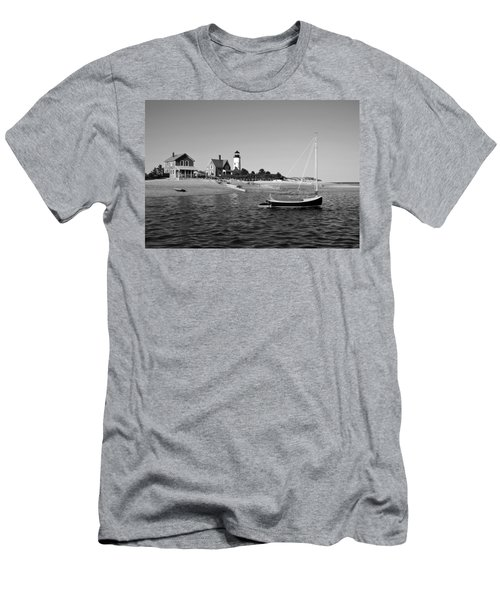 Men's T-Shirt (Slim Fit) featuring the photograph Sandy Neck Lighthouse by Charles Harden