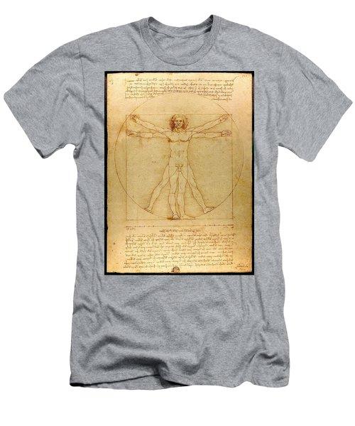 Vitruvian Man Men's T-Shirt (Athletic Fit)