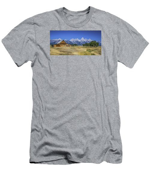 #5730 - Mormon Row, Wyoming Men's T-Shirt (Athletic Fit)