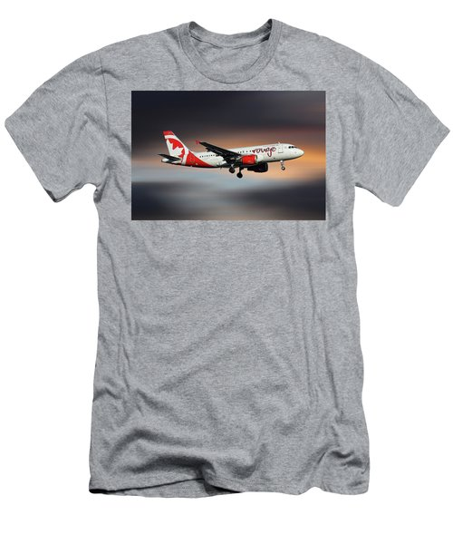 Air Canada Rouge Airbus A319-114 Men's T-Shirt (Athletic Fit)