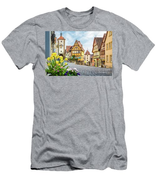 Rothenburg Ob Der Tauber Men's T-Shirt (Slim Fit) by JR Photography