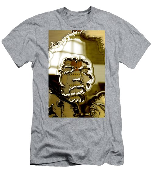 Jimi Hendrix Collection Men's T-Shirt (Slim Fit) by Marvin Blaine
