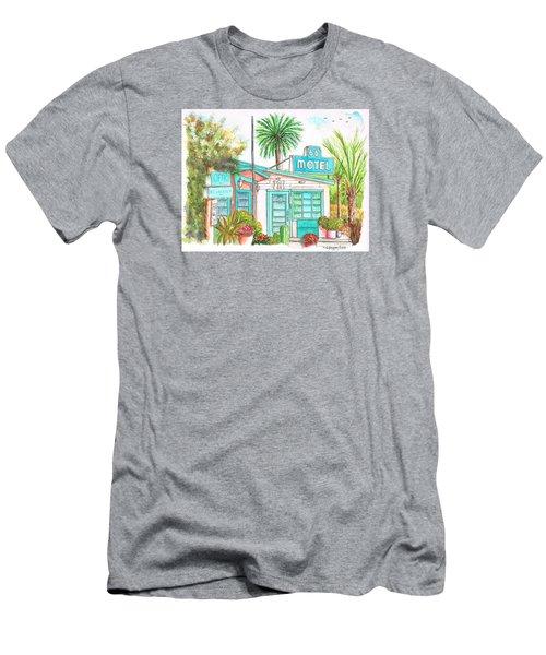 66 Motel In Needles, California Men's T-Shirt (Slim Fit) by Carlos G Groppa
