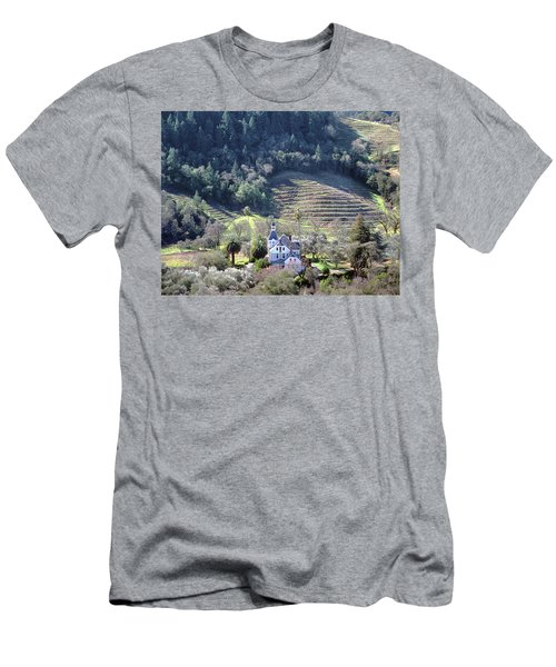 6b6312 Falcon Crest Winery Grounds Men's T-Shirt (Athletic Fit)