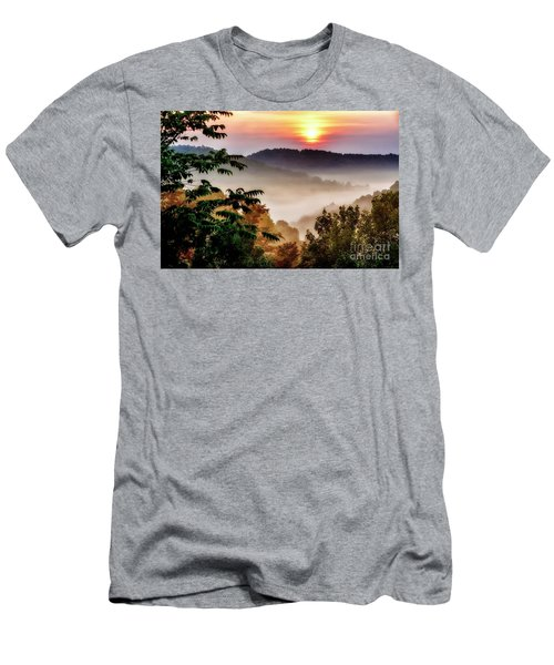 Mountain Sunrise Men's T-Shirt (Slim Fit) by Thomas R Fletcher