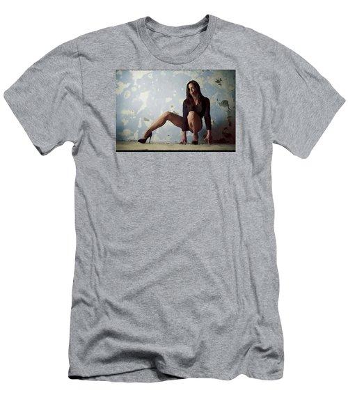 Waiting For.. Men's T-Shirt (Slim Fit) by Shlomo Zangilevitch