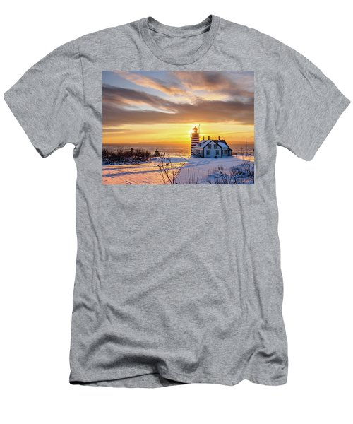 West Quoddy Head Lighthouse Men's T-Shirt (Slim Fit) by Trace Kittrell
