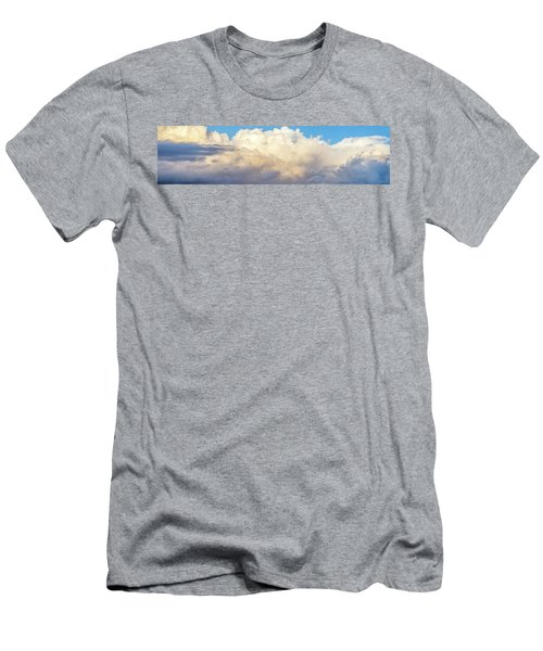 Men's T-Shirt (Slim Fit) featuring the photograph Clouds by Les Cunliffe