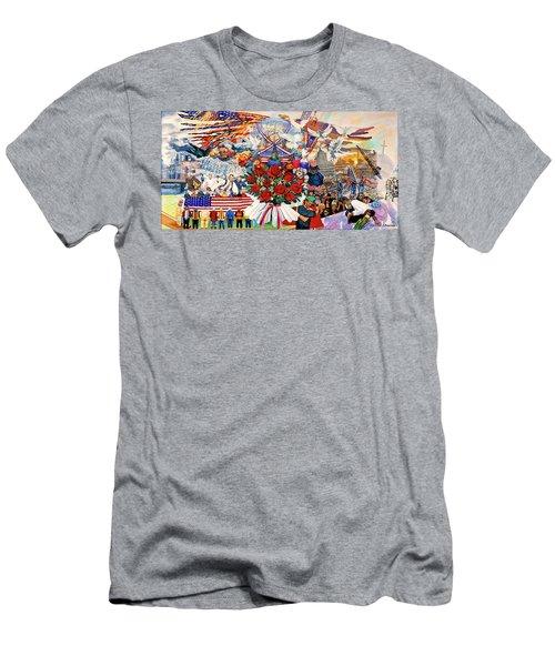 9/11 Memorial Towel Version Men's T-Shirt (Athletic Fit)