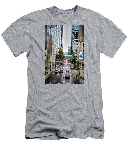 Charlotte North Carolina Views Around  Downtown Men's T-Shirt (Athletic Fit)